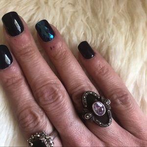 Vintage sterling Art Deco ring